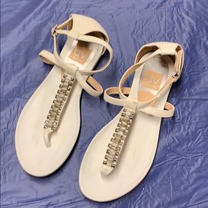 DV by Dolce Vita white thong scrappy sandals